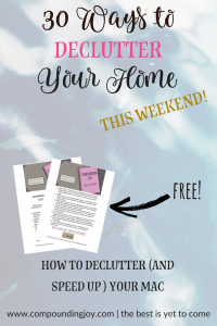 30 ways to declutter your home in a weekend