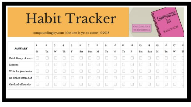 habit tracker evernote template